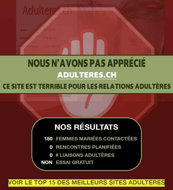 Aperçu du site de rencontre infidèle Adulteres